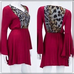 Auditions Front & Back Upper Leopard Accents Dress